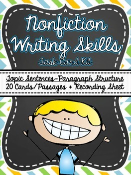Common Core- Nonfiction Writing Skills Task Card Kit-Multiple Choice