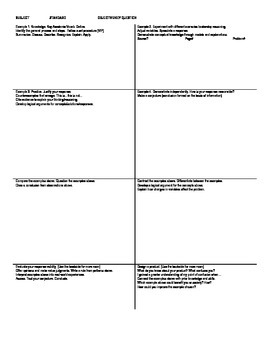 Common Core Note-Taking Template