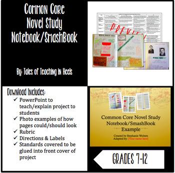 Common Core Novel Study Notebook/SmashBook