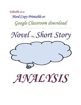 Common Core Novel or Short Story Analysis