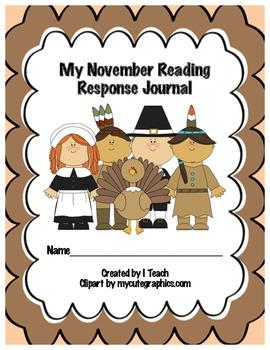 Common Core November Reading Response Journal