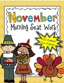 2nd Grade November Morning Seat Work -Common Core Aligned