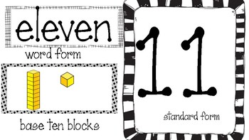 Common Core Number Anchor Chart 1-30