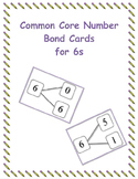 Common Core Number Bond Cards for 6s