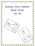 Common Core Number Bond Cards for 9s