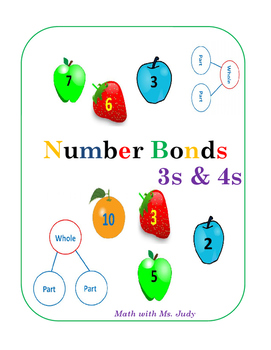 Common Core Number Bonds for 3s and 4s