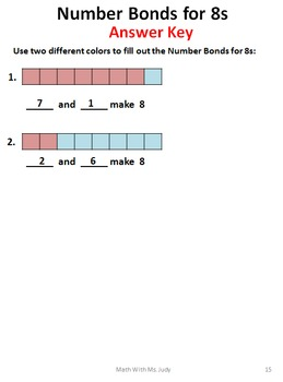 Common Core Number Bonds for 8s