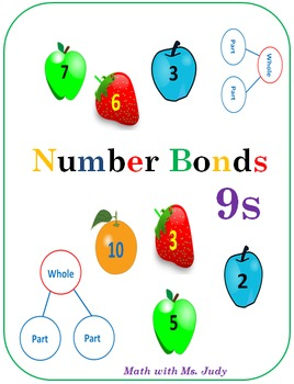 Common Core Number Bonds for 9s