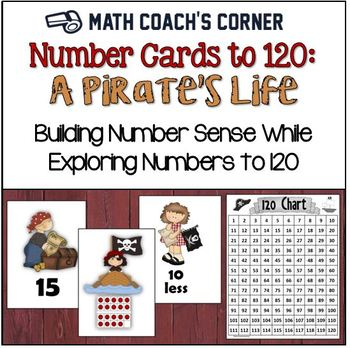 Common Core: Number Cards to 120, A Pirate's Life w/Activities