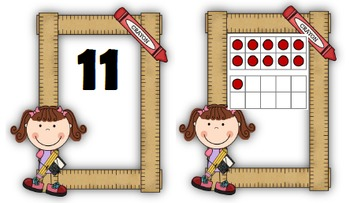 Number Sense: Number Cards to 120, Back to School w/Activities
