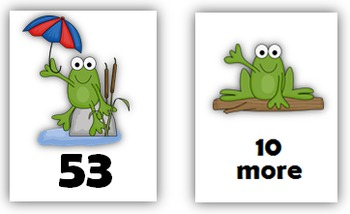 Number Sense: Number Cards to 120, Friendly Frogs w/Activities