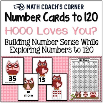 Common Core: Number Cards to 120, Hooo Loves You? w/Activities