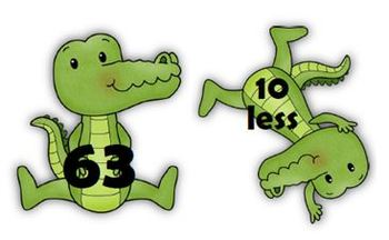 Common Core: Number Cards to 120, Later Gator! w/Activities