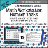 Number Sense Workstation Task Cards, Numbers to 120, CCSS and TEKS Aligned
