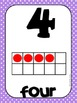 Common Core Number Posters: Full Size & Half Size {Bright