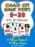 Common Core Number Posters: Full Size & Half Size {Primary Colors}