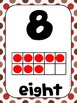 Common Core Number Posters: Full Size & Half Size {Sock Monkey Colors}