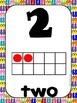 Common Core Number Posters: Full Size & Half Size {Summer Flip Flops Theme}