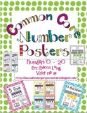 Common Core Number Posters - Numbers 0-20 Polka Dot