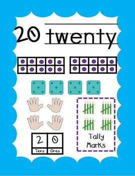 Common Core Number Posters – Numbers 0-20  Scalloped Edges
