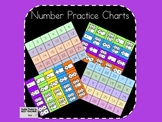 Common Core Number Practice Charts 1-30 and Subitize Dots