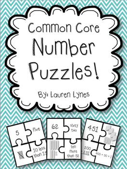 Common Core Number Puzzles!