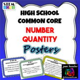 High School Math Common Core  Number Quantity Standard Posters