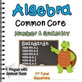 Algebra Common Core Number & Quantity Standards Practice