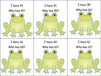 Common Core Number Recognition Spring Frog Flower Theme Numbers to 120