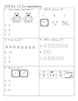Common Core Number Sense Assessment