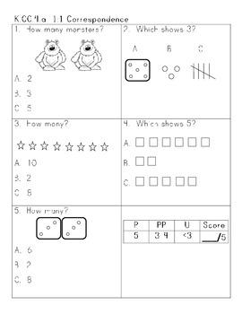 Common Core Number Sense Assessment