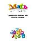 Common Core Number Sense Math Assessments