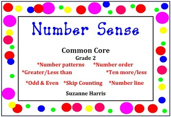 Common Core Number Sense-Number Order, Greater/Less Than, Odd, Even, Number Line