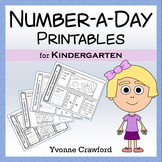 Number a Day Math Printables (Kindergarten)