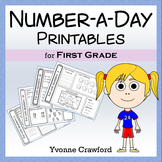 Number a Day Math Printables (first grade)
