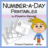 Number a Day Math Printables (fourth grade)
