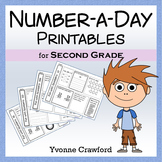 Number a Day Math Worksheets (second grade)