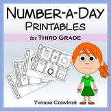 Number a Day Math Printables (third grade)