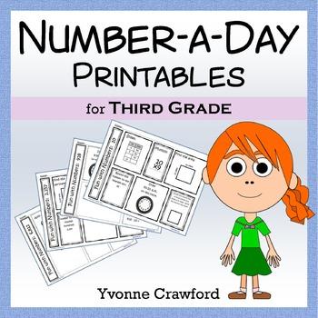 Number a Day Math Printables (third grade)