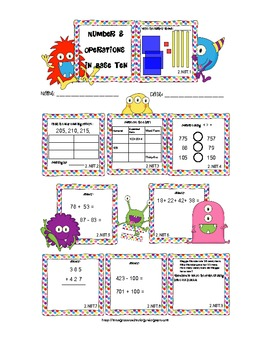 Common Core Number and Operations in Base Ten Pack