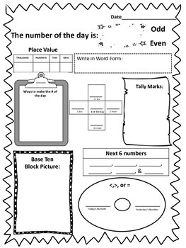 Common Core Number of the Day for Second Grade