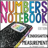 TEKS Numbers Notebook Measurement Kindergarten