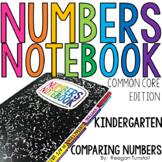 Common Core Numbers Notebook Comparing Numbers Kindergarten