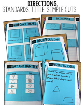 Common Core Numbers Notebook Shapes and Solids Kindergarten