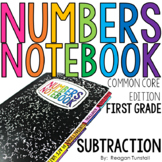 Common Core Numbers Notebook Subtraction First Grade