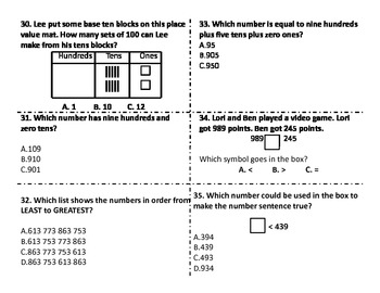 Common Core Numbers and Operations End of Unit Test