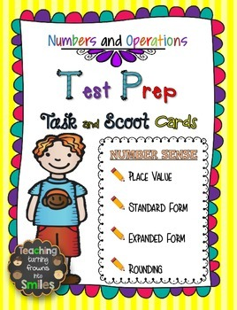 Numbers and Operations Test Prep Cards