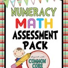 Common Core Numeracy Assessment Pack