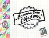 Common Core Objectives 3rd Grade Math