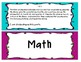 Common Core Objectives and I Can Statements- First grade